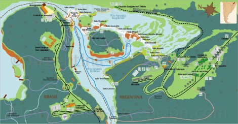 Iguazú Argentina Map