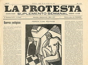 Anarchist newspaper La Protesta. Photo: anarquismoenlaargentina.blogspot.com
