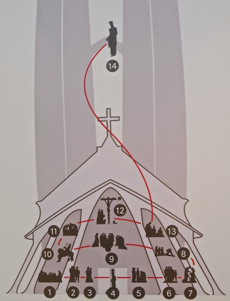 Passion Façade: the stages of the Via Crucis
