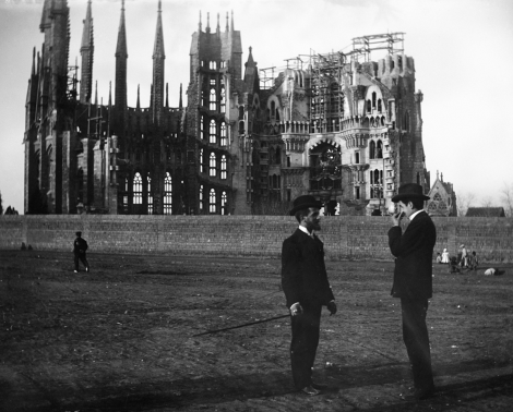 Progress of Sagrada Familia in 1926, the year of Gaudi's death. Photo: Wikipedia